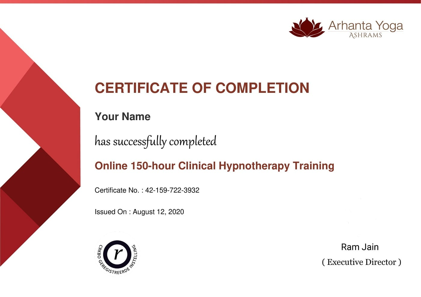 clinical hypnotherapy certificate